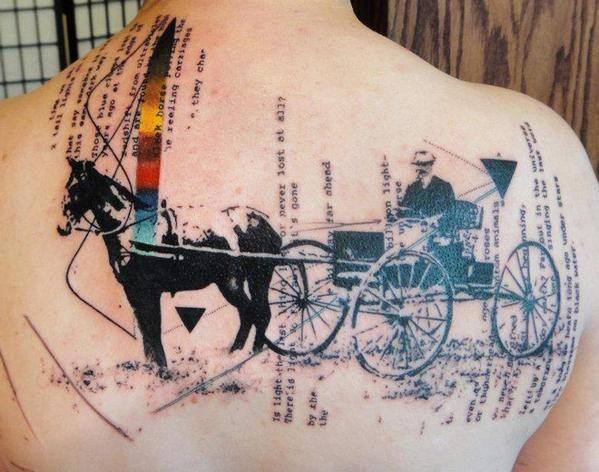 Abstract Western Tattoo by Xoil Tattoo - http://worldtattoosgallery.com/abstract-western-tattoo-by-xoil-tattoo/