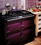 AGA 6-4 Range Cooker in Aubergine. Available from Edwards & Godding