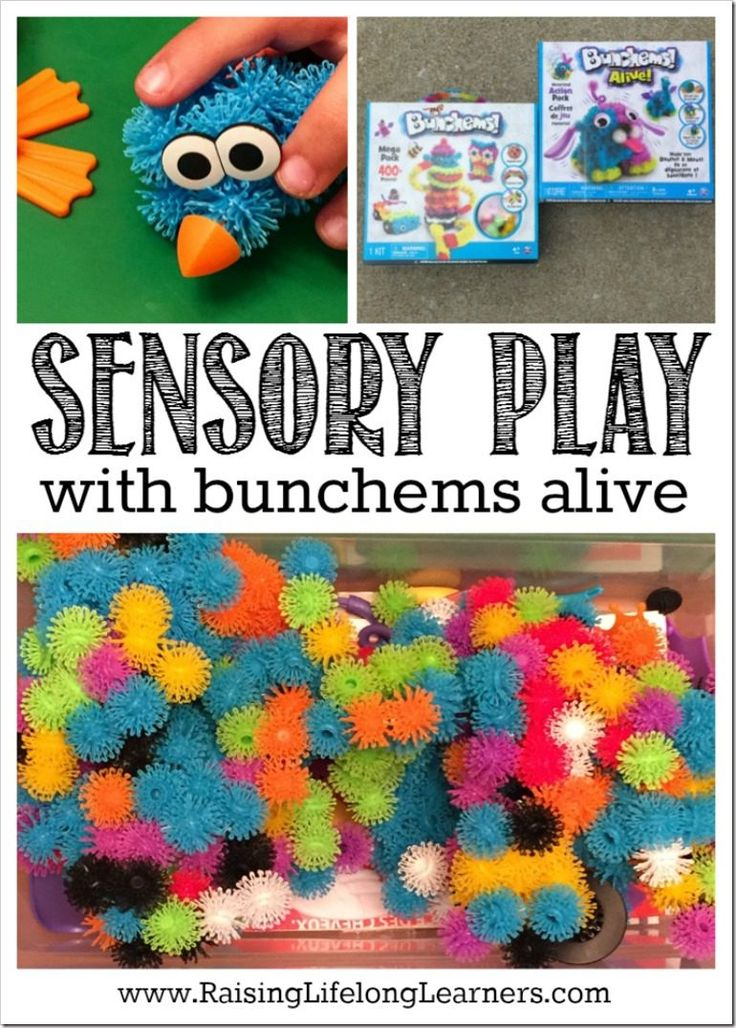 Sensory Play with Bunchems Alive Activity for young children and homeschoolers