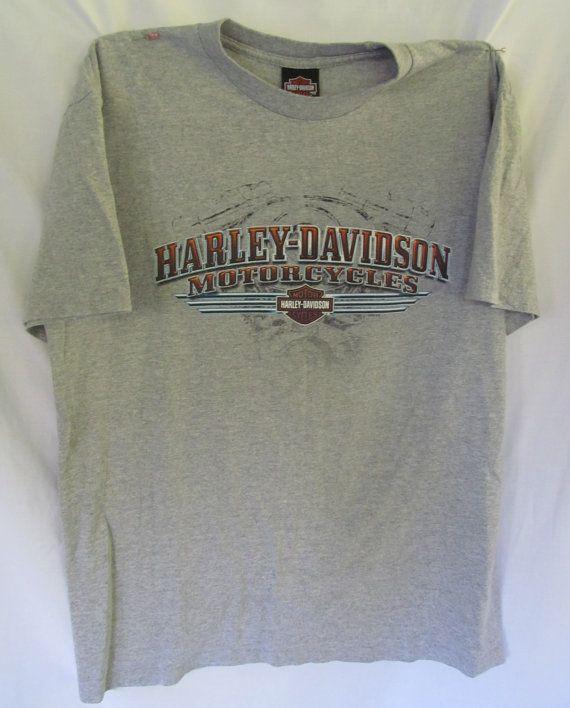 Vintage Harley Davidson Motorcycle Shirt Grey Harley Dealer Shirt Pennsylvania Front and Back  ReVintageBoutique.Etsy.com