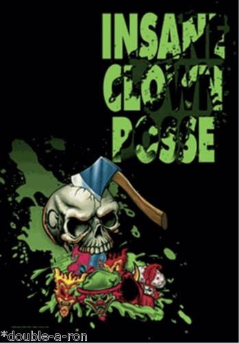 "NEW ICP Insane Clown Posse Hatchet Fabric Poster 30 x 40"" Rip-Free Silk Psycho $35.99"