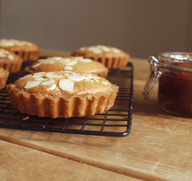 Rhubarb & Ginger Bakewell Tart - they sound delicious!