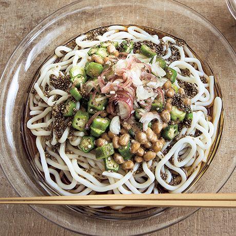 ねばねばチアだれうどん | 牧野直子さんのうどんの料理レシピ | プロの簡単料理レシピはレタスクラブニュース