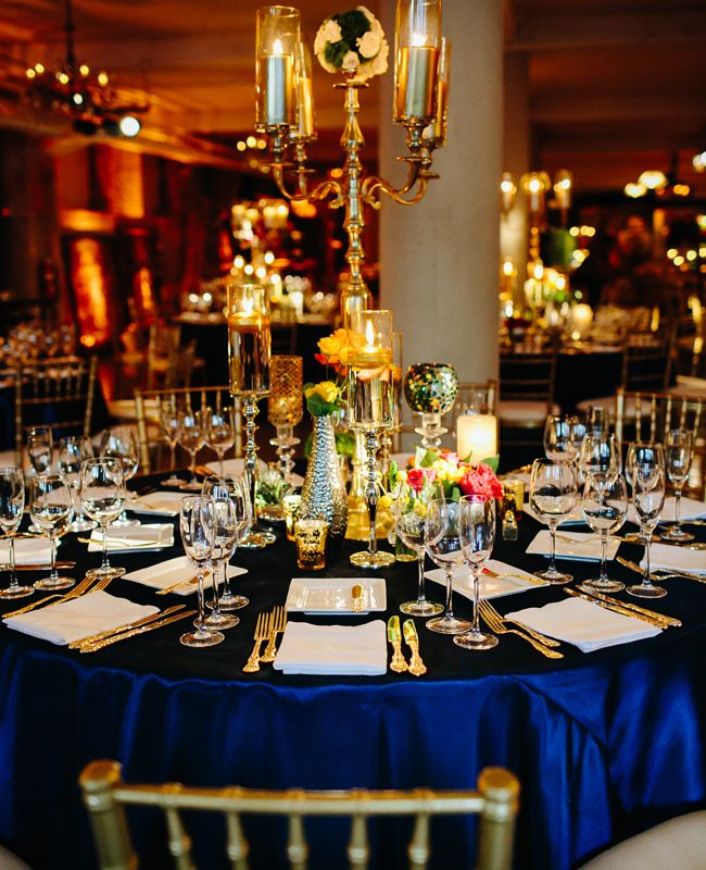 Blue And Gold Wedding Decorations: 27 Best Images About Navy Blue & Gold Wedding On Pinterest