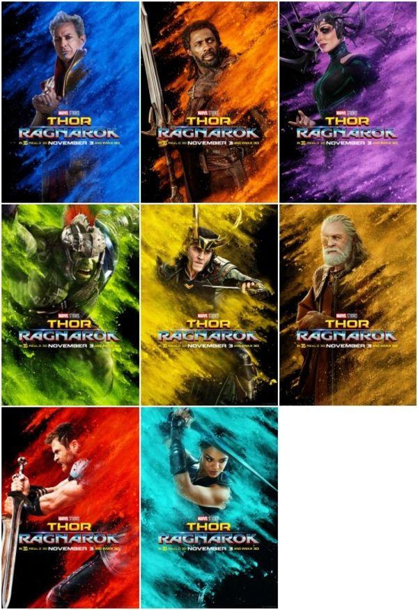 Thor: Ragnarok - 'Contender' TV Spot & New Character Movie Posters #Marvel