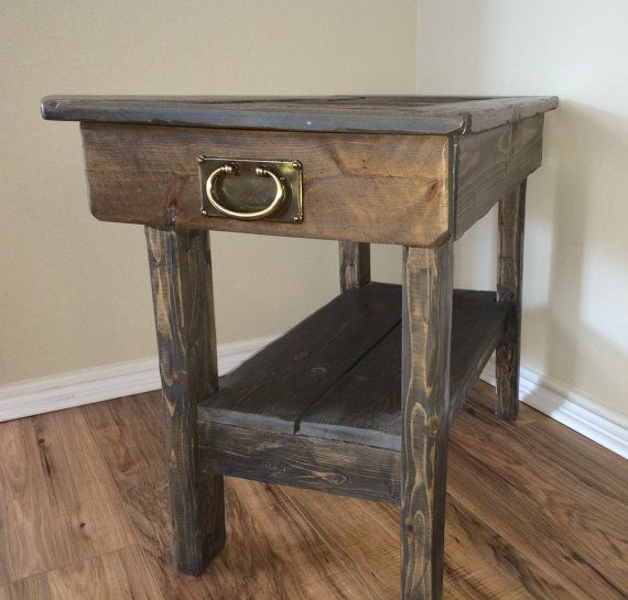 end table rustic end table side table farm by