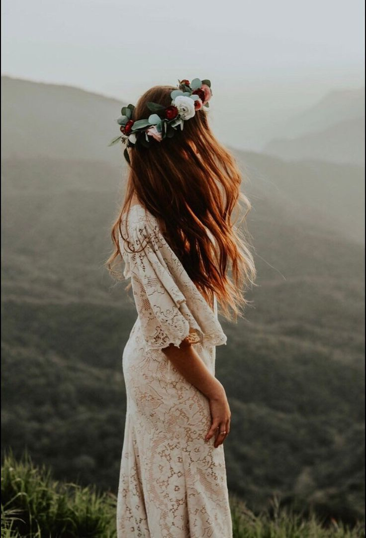 Boho Brautkleid, Brautkleid, Spitze Brautkleid, Vintage Brautkleid, lässige Bra…