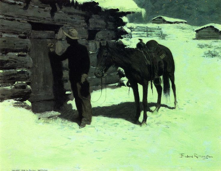 1906 The Belated Traveler by Frederic Remington