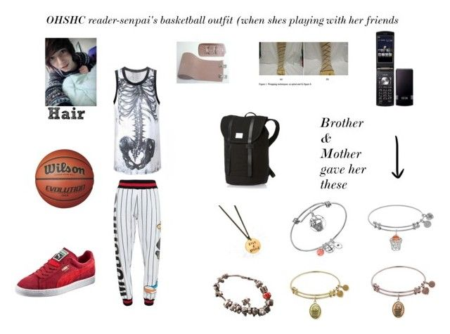 """X reader's basketball outfit OHSHC"" by willowokimaw on Polyvore featuring Pandora, Moschino and Puma"