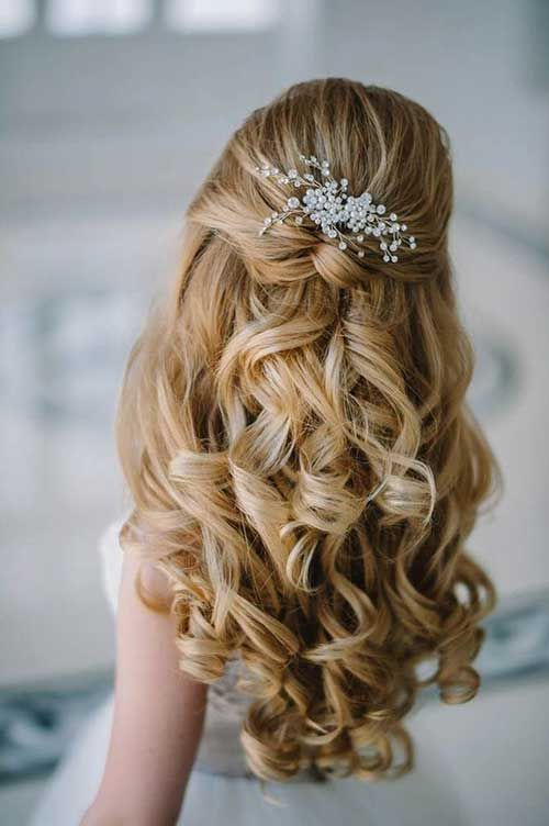 15  Half Up Half Down Bridal Hair