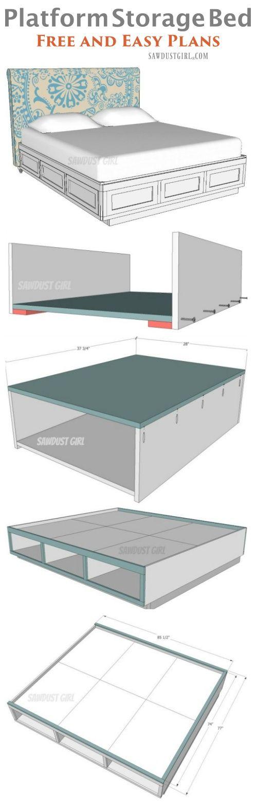 Best 25+ Platform bed storage ideas on Pinterest | Full ...