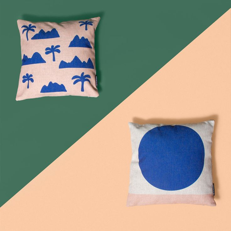 Ipanema + Lola blue pillow by FEST Amsterdam Photo by Justine Leenarts