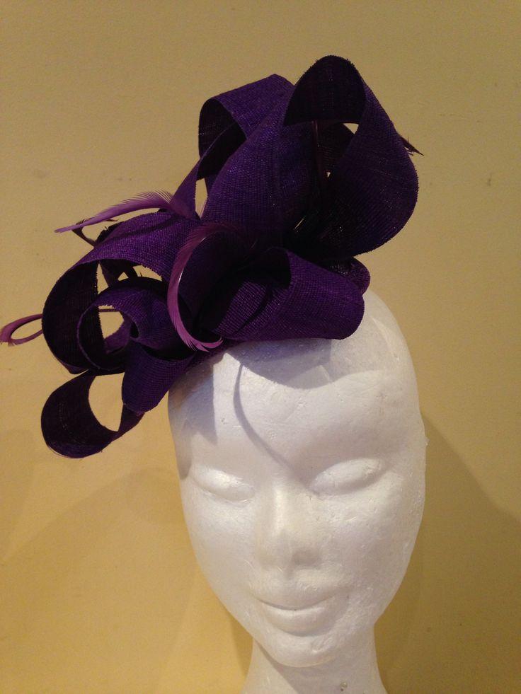 Purple looped tinalak on purple teardrop base, with comb