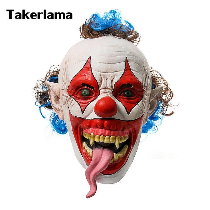 Takerlama Lengua de Serpiente Evil Clown Máscara Creepy Scary Máscara Del Partido Del Carnaval de Halloween Fiestas Estilo Payaso Máscara en Accesorios disfraces hombre de Novedad y de Uso Especial en AliExpress.com | Alibaba Group