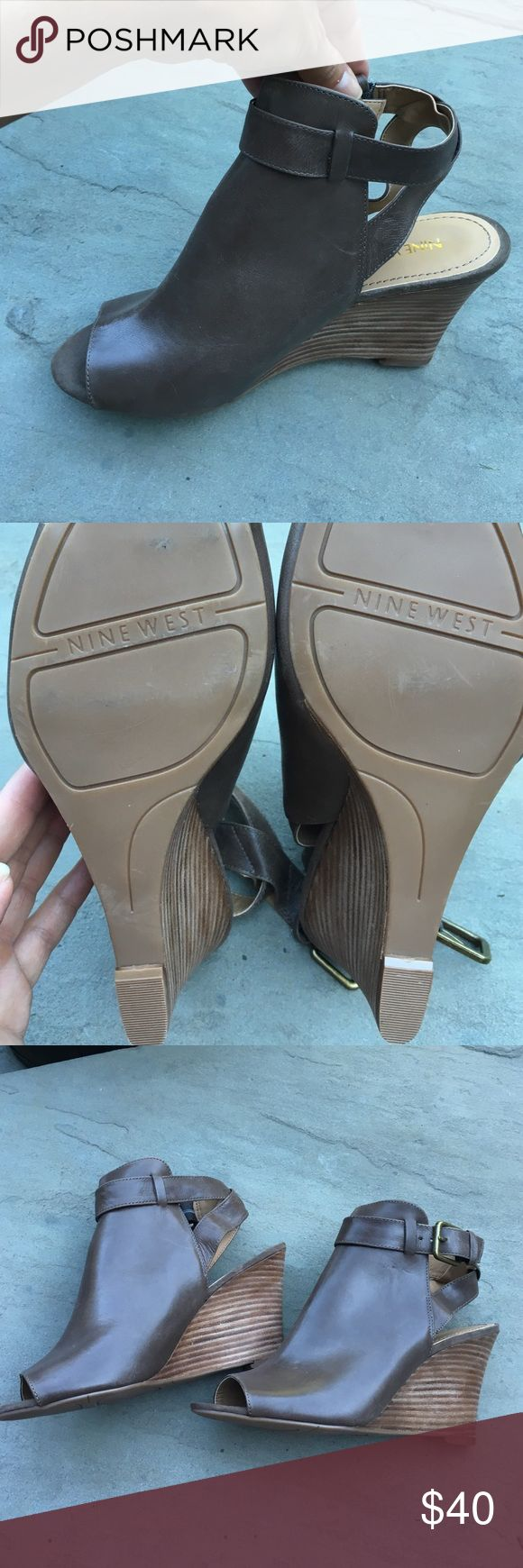 Nine West peep toe wedge NWOT Beautiful Nine West peep toe wedge Nine West Shoes Wedges