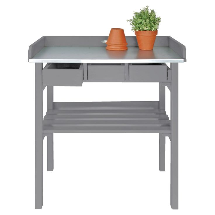 Esschert Design Garden Work Bench   The Esschert Design Garden Work Bench  Combines Benchtop Space For