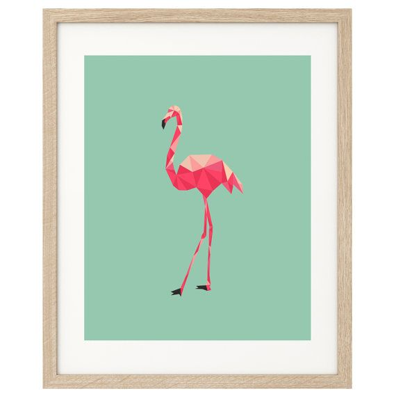 Poster Print Art Pink Flamingo Print A4 or A3 on Etsy, $19.99 AUD