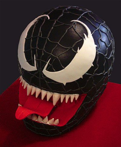 Black spiderman cakes - photo#30