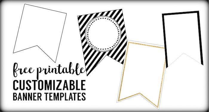 Free Printable Banner Templates Blank Banners Paper Printable Banner Template Pennant Banner Template Diy Banner Template