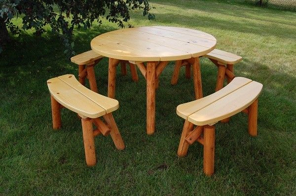 Large Round Picnic Table Plans Woodworking Projects Amp Plans