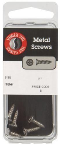 "Hillman 8152 Stainless Steel 300 Series Sheet Metal Screws, 8"" x 3/4"""