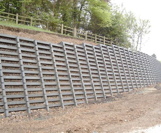 Concrete Crib Retaining Wall Crib Walls Pinterest