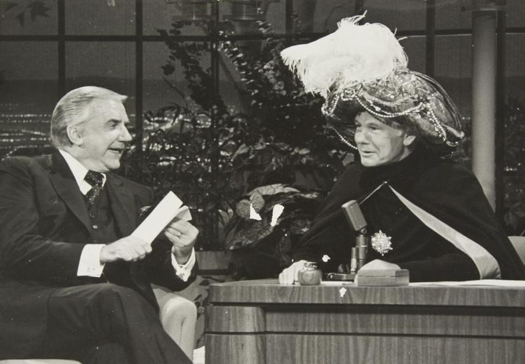 "Ed McMahon & Johnny Carson of NBC's ""TONIGHT SHOW"" (1962-1992) doing the ""CARNAC The MAGNIFICENT"" Sketch. HI-YO!!!"