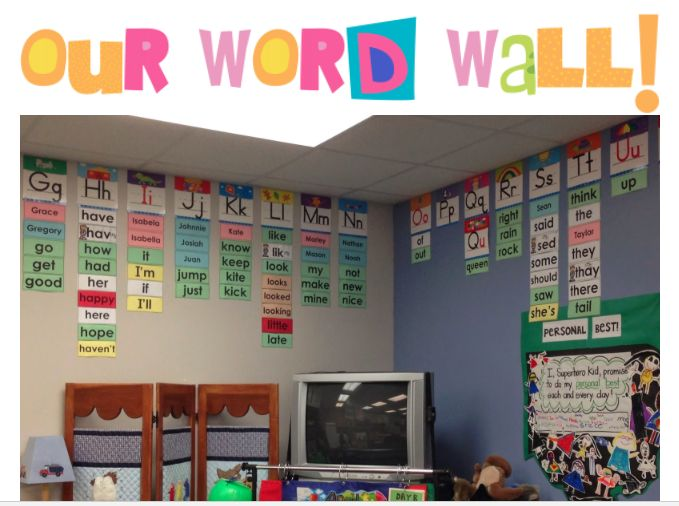 Building A First Grade Word Wall Blog Post From Creating