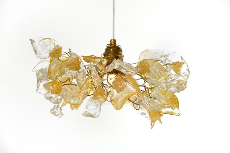 Ceiling Light fixtures flowers and leaves with gold and clear color, for living rooms,Kitchen island, hall or bedroom. by yehudalight on Etsy https://www.etsy.com/listing/256719357/ceiling-light-fixtures-flowers-and