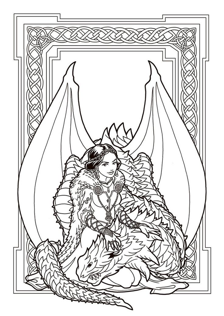 red queen coloring book pages - dragon enchantress lines by deviantashtareth on