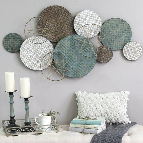 woven texture metal plate wall decor plate wall decor on wall paintings id=60406