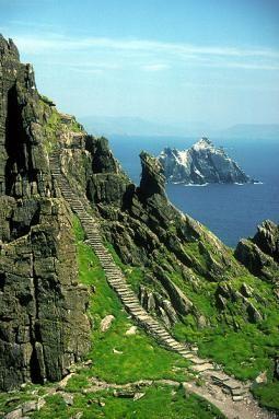 stairway to heaven, Ireland.  It was so nice to honeymoon in Ireland!  Steps up Skellig Michael