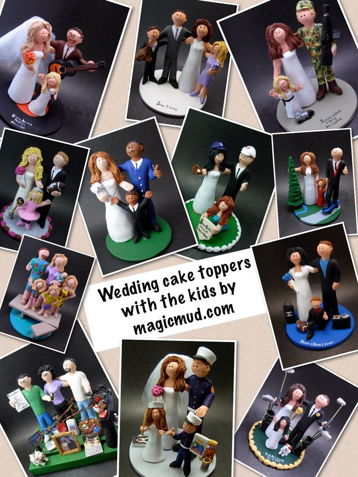 Blended Family and Mixed Family wedding cake toppers by www.magicmud.com 1 800 231 9814 magicmud@magicmud... blog.magicmud.com twitter.com/... $235 #weddingwithkids #mixedfamily #2ndmarriage #blendedfamily #blendedfamilywedding #wedding #cake #toppers #custom #personalized #Groom #bride #anniversary #birthday #weddingcaketoppers #caketoppers #figurine #gift http://custom-wedding-cake-toppers.tumblr.com/ http://instagram.com/weddingcaketoppers…