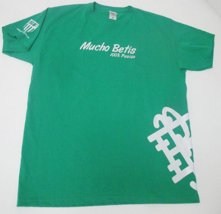 #CamisetasPersonalizadas en vinilo de corte #RealBetisBalompié, tejido algodón 100% y 155gr.(camiseta completa)