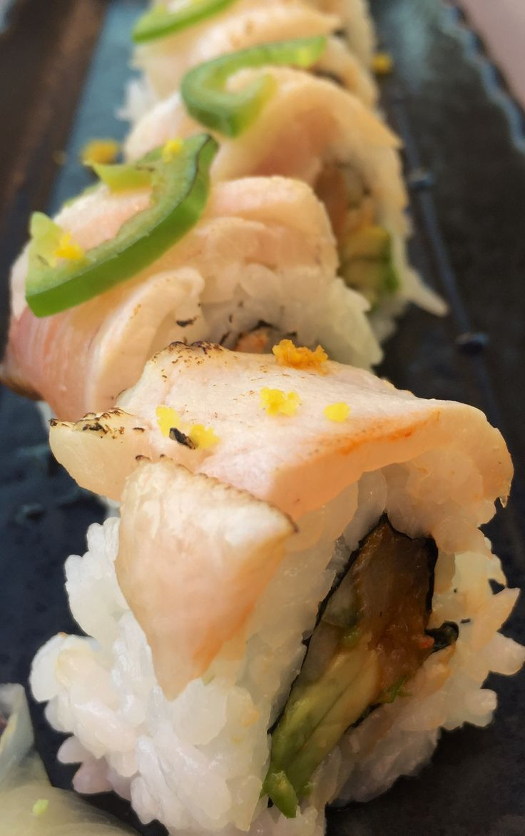 Hamachi #sushi roll at Pescatores in Victoria, BC