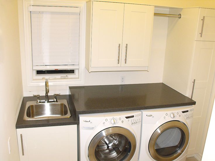 Utility Sink Good, Great, Or Just OK? Utility Sink Hidden Storage Idea:  Table Or Sink Skirt Creative Laundry Room Storage + Free Labels Laundry Room:  The ... Part 48