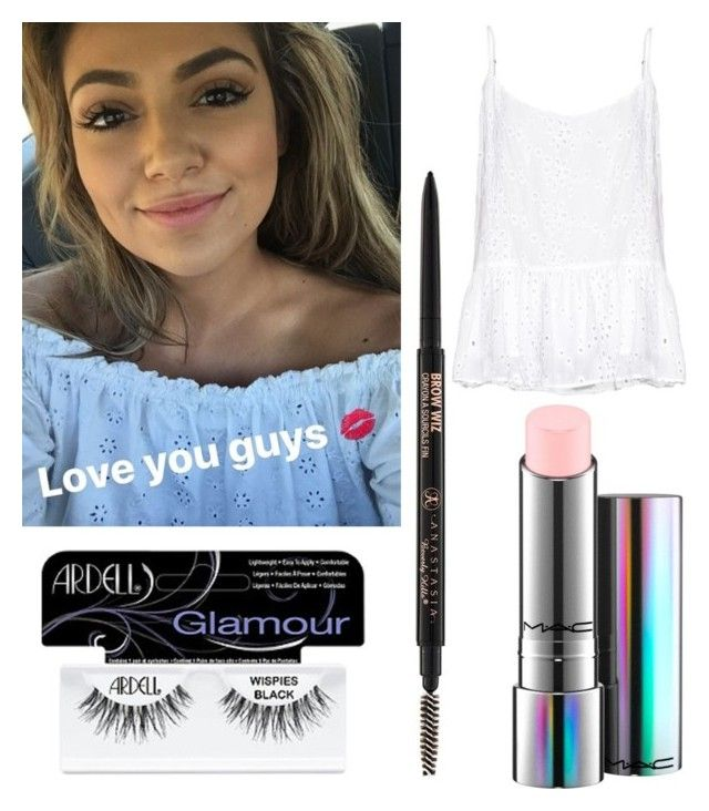 """""""Bethany Mota in the car"""" by t21makeupaddictions ❤ liked on Polyvore featuring beauty, Anastasia Beverly Hills, Ardell, MAC Cosmetics and Velvet by Graham & Spencer"""