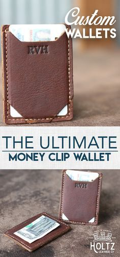 $35.00 - Personalize This Product with you initials - The Trey money clip wallet is ultra thin and excellent for carrying the essentials.  This wallet features a spring tension money clip to keep your bills in place.  Not only can it keep your bills secure, it also can hold up to 3-4 cards comfortably.  A great gift for that hard to buy for guy!
