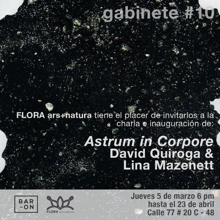 Flora ars+natura invita a la apertura de 'Astrum in Corpore', trabajo de David Quiroga y Lina Mazenett, décima entrega de la convocatoria #Gabinete. Jueves 5 de marzo, 6:00 p.m.