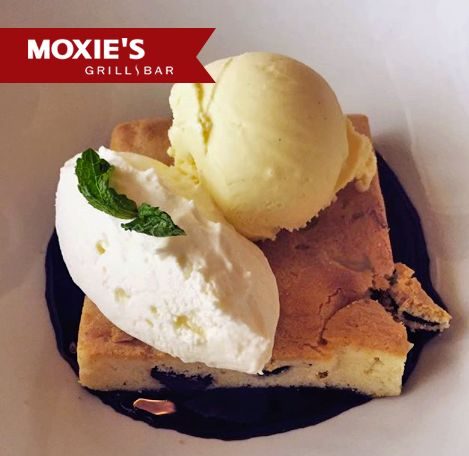 Moxie's White Chocolate Brownie, simply irresistible and a true favourite!
