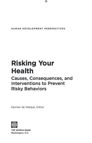 World Bank released a report that looks at how individual choices that led to five risky behaviors –smoking, using illicit drugs, alcohol abuse, unhealthy diets, and risky sex— are formed. The report, 'Risking your Health: Causes, Consequences and Interventions to Prevent Risky Behaviors', uses empirical evidence to examine what works and what doesn't.