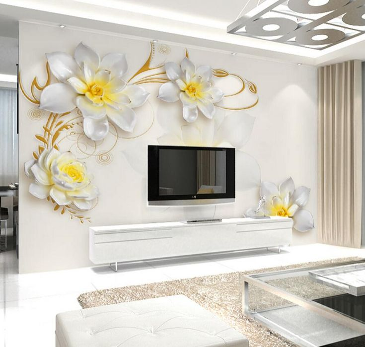 Wallpapers Flower Wall Paper Painting Oil Painting Papel Mural 3d Wallpaper  Living Roomphoto Wall Papers Home Part 60