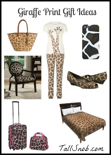 Tall Tuesday: Giraffe Print Gift Ideas