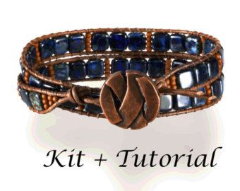 Wrap Bracelet Kit:  Jewelry making kit with beads supplies &