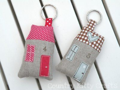 fabric house key rings