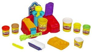 Play-doh Fun Food Poppin Movie Snacks by Hasbro. $10.72. Set includes five cans of PLAY-DOH compound and accessories. Awesome creativity set includes everything kids need to mold, shape and create all kinds of pretend concession stand treats. Use the accessories and your imagination to pop pretend popcorn, make pretend candy, scoop yummy-looking ice cream and even make fake fries. Get your fill of movie theater fun with this awesome PLAY-DOH creativity set. No matter what treats ...