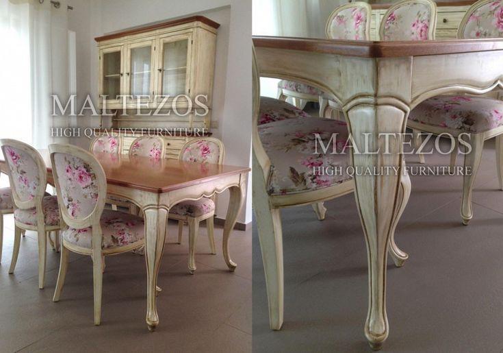 Country ΤΡΑΠΕΖΑΡΙΑ: CTR-128  Ένα εξαίρετα ταιριαστό σετ με αυτές τις floral καρέκλες...