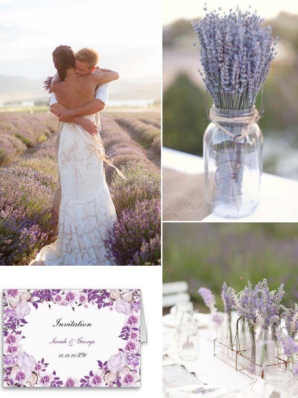 Die 25 besten ideen zu lavendel hochzeit farben auf pinterest malvenfarbene hochzeit - Dekoration lavendel ...