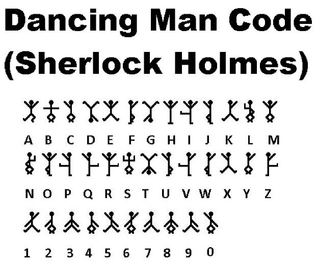 Dancing Man Code ( Sherlock Holmes )