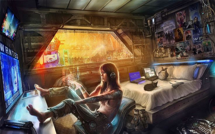 cyberpunk room decor - Google Search